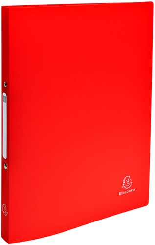 Ringband Exacompta A4 2-rings O-mech 15mm PP rood
