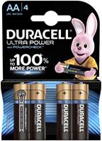 Batterij Duracell Ultra Power 4xAA
