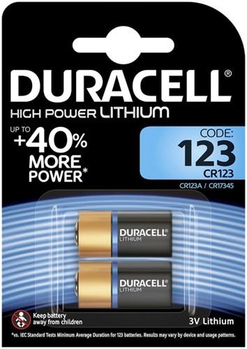 Batterij Duracell 2x123 high power lithium