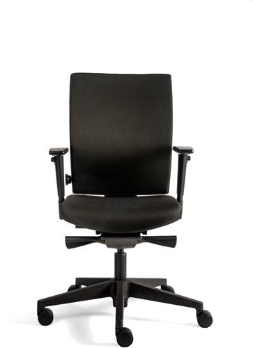 Kieft Chair 706+ comfort stof zwart 3D armlegger