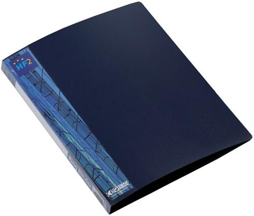Ringband HF2 A4 2-rings O-mech 16mm PP blauw