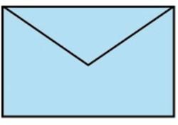 Envelop 90x140mm baby blauw