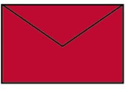 Envelop 90x140mm rood