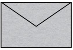 Envelop 90x140mm zilver