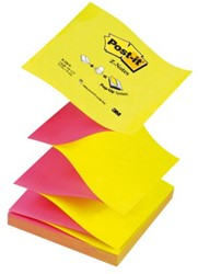 Memoblok 3M Post-it Z-Note N330 76x76mm neon roze/geel