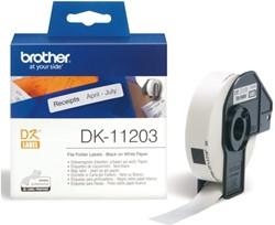 Etiket Brother DK-11203 17x87mm archivering 300stuks
