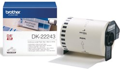 Etiket Brother DK-22243 102mm thermisch 30-meter wit papier