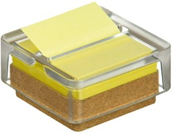 Memoblokdispenser 3M Post-it Z-Notes R330 glas +12 blok geel