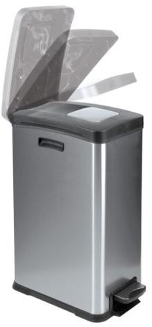 Afvalbak RVS met kunststof binnenbak 30liter-2