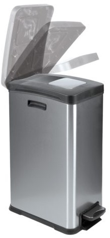 Afvalbak RVS met kunststof binnenbak 30liter