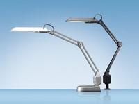 Bureaulamp Hansa met spaarlamp Ecostar zilver