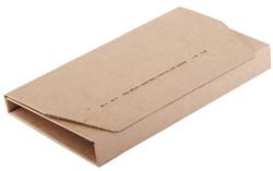 Wikkelverpakking CleverPack A5 +zelfkl strip bruin 10stuks