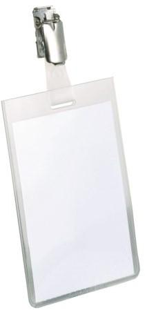 Badge Durable 8002 met clip staand gesloten 90x60mm