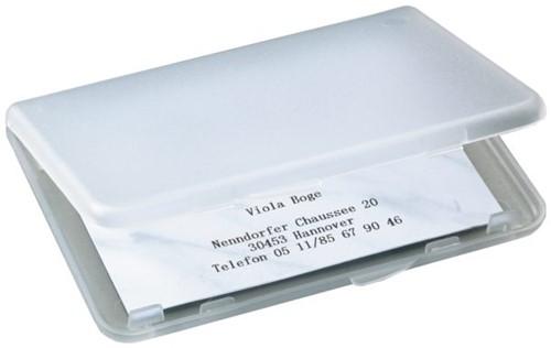 Visitekaartenhouder Sigel VA140 25 kaarten kunststof transparant