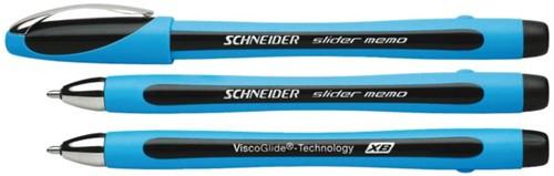 Balpen Schneider Slider Memo zwart extra breed