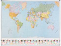 Wereldkaart Legamaster 98x142cm