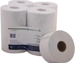 Toiletpapier PrimeSource Mini 2laags 180mx89mm wit 12rollen