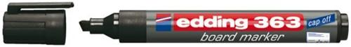 Viltstift edding 363 whiteboard beitel zwart 1-5mm