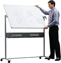 Whiteboard Nobo Kantelbord Classic 150x120cm gelakt staal