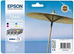 Inkcartridge Epson T0445 zwart + 3 kleuren