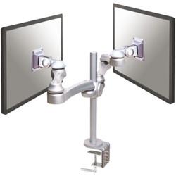 "monitorarm Newstar D930D 2x10-30"" met klem zilvergrijs"