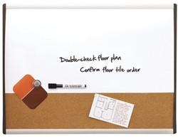 Whiteboard Duobord Quartet 58.5x43cm gewelfd