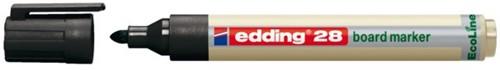 Viltstift edding 28 whiteboard Eco rond zwart 1.5-3mm
