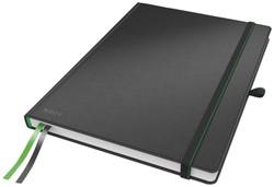 Notitieboek Leitz Complete hardcover A6 gelinieerd zwart