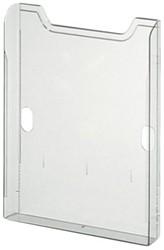 Folderstandaard Exacompta A4 staand groen transparant