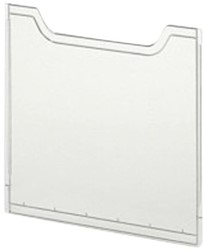 Folderstandaard Exacompta A4 Afdekplaat groen transparant