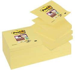 Memoblok 3M Post-it Z-Note S330-Y 76x76mm Super Sticky geel