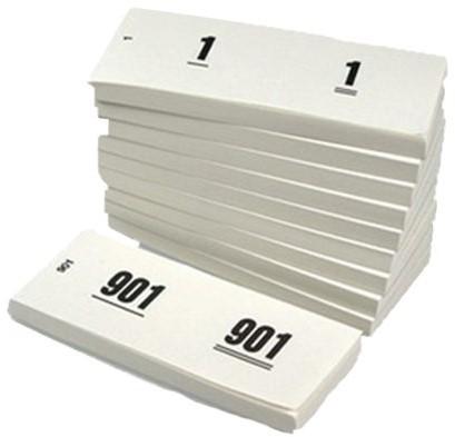 Nummerblok 42x105mm nummering 1-1000 wit 10 stuks