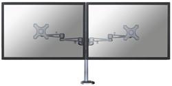"""monitorarm Newstar D935DG 2x10-27"""" op voet zilvergrijs"""