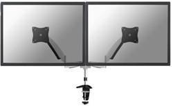 "monitorarm Newstar D950D 2x10-27""  met klem zilvergrijs"