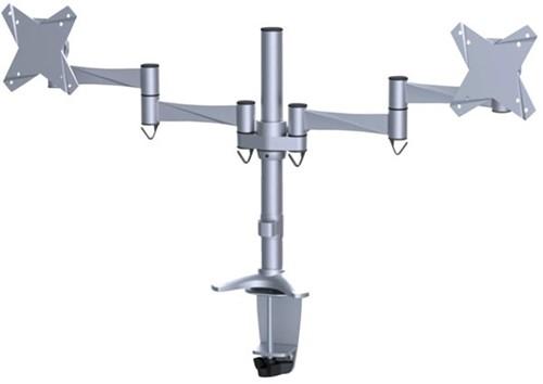 "monitorarm Newstar D1330D 2x10-27"" met klem zilvergrijs-2"