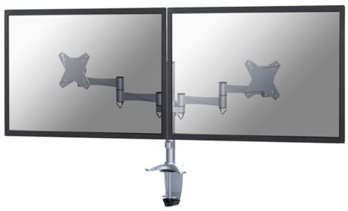 "monitorarm Newstar D1330D 2x10-27"" met klem zilvergrijs-1"