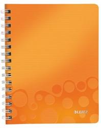 Notitieboek Leitz WOW A5 spiraal PP lijn oranje
