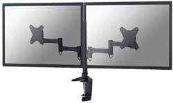 """monitorarm Newstar D1330D 2x10-27"""" met klem zwart"""