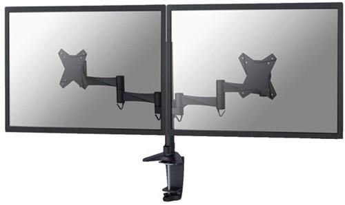 """monitorarm Newstar D1330D 2x10-27"""" met klem zwart-1"""