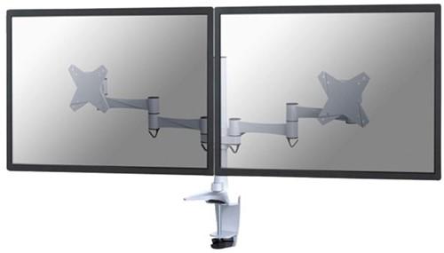 """monitorarm Newstar D1330D 2x10-27"""" met klem wit-1"""