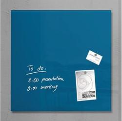 Glasbord Sigel magnetisch 480x480x15mm petrolblauw