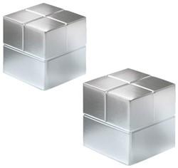 Glasbordmagneet Sigel Artverum 20x20x20mm nikkel 2stuks