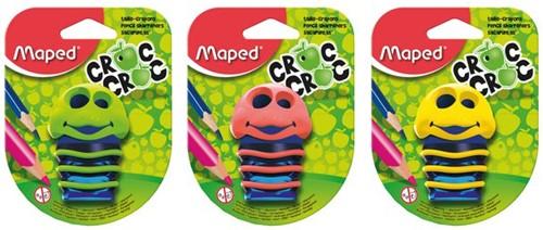 Puntenslijper Maped Croc 2-gaats op blister