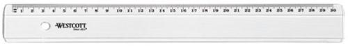 Liniaal Westcott basic kunststof 300mm transparant
