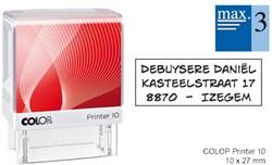 Tekststempel Colop Printer 10 +bon 3regels Frans 27x10