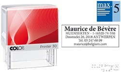 Tekststempel Colop Printer 30 +bon 5regels 47x18mm