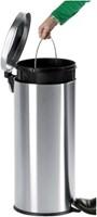 Afvalbak pedaalemmer RVS mat rond 5 liter-3