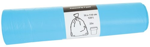 Afvalzak HDK 70x110cm 16micron 120liter blauw 25stuks-3