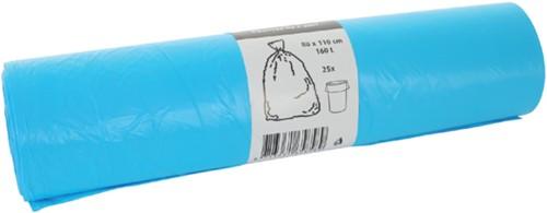Afvalzak HDK 80x110cm 16micron 160liter blauw 25stuks-3