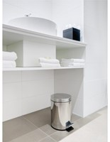Afvalbak pedaalemmer RVS mat rond 12 liter-3